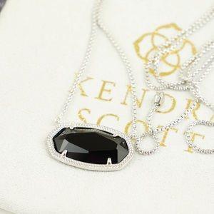Kendra Scott Delaney necklace black silver